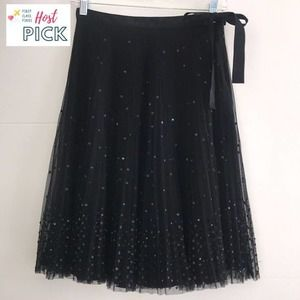 Express Accordion Pleat Sequin Skirt Black Size 1